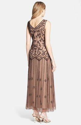 Pisarro Nights V-Neck Beaded Sequin Gown