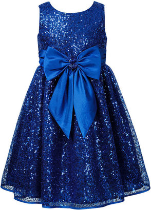 Sweet Heart Rose Girls Dress, Little Girls Shimmering Dress