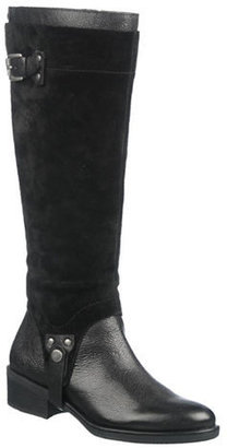 Franco Sarto Bevel Wide Calf Leather & Suede Boots