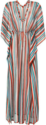 Missoni Mare Aquamarine/Sunset Stripe Maxi Caftan