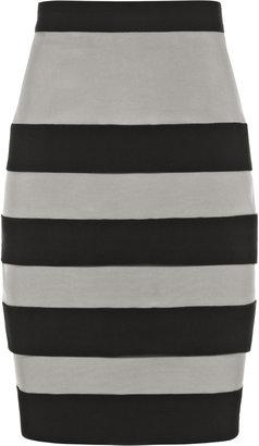 Reiss Cherise-Fitted Tulip Skir Striped Tulip Skirt