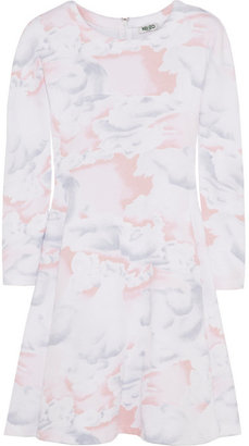 Kenzo Cloud-print cotton-jersey sweater dress