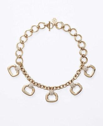 Ann Taylor Square Pave Link Necklace