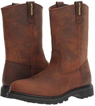 Caterpillar Revolver (Brown Pull Up Leather) Men's Work Pull-on Boots