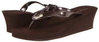 Tommy Bahama Metallic Bimini Wedge (Brown) - Footwear