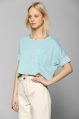 Urban Outfitters Mouchette Burnout Cropped Tee