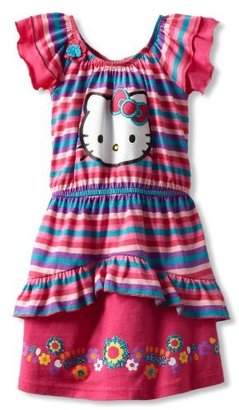 Hello Kitty Girls 2-6X Striped Dress With Flower
