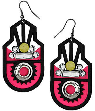 Topshop Neon Arch Earrings