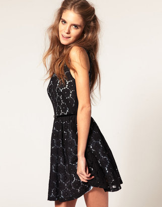 Asos Lace Dress in Floral Print