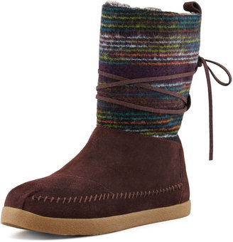 Toms Striped Suede Nomad Boot, Brown