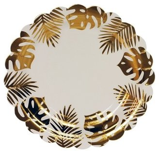 Spritz Gold Palm Leaf Plate