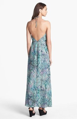 Lovers and Friends Lovers + Friends 'Smokin' Hot' Print Halter Maxi Dress