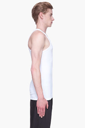 BLK DNM White classic ribbed tank
