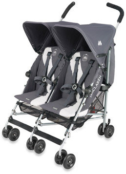Maclaren Twin Triumph Buggy Stroller - Charcoal and Silver