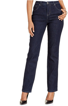 Style & Co. Tummy-Control Colored Wash Straight-Leg Jeans, Only at Macy's $49 thestylecure.com