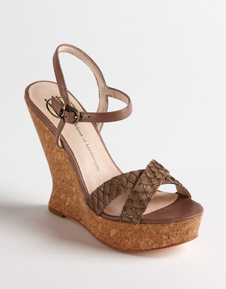 House Of Harlow Pat Leather Platform Wedge Sandals