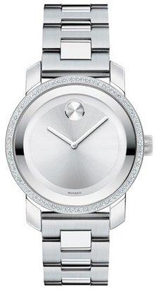 Women's Movado 'Bold' Diamond Bezel Bracelet Watch, 36Mm $1,495 thestylecure.com