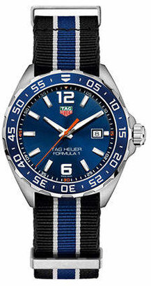 Tag Heuer Formula 1 WAZ1010.FC8197 Striped Strap Watch
