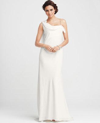 Ann Taylor Carolyn One Shoulder Gown