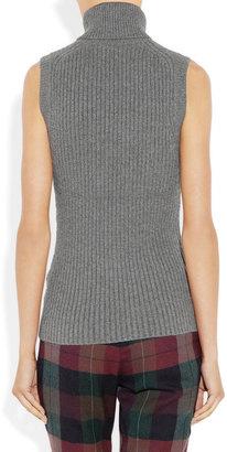 Michael Kors Ribbed cashmere-blend turtleneck sweater