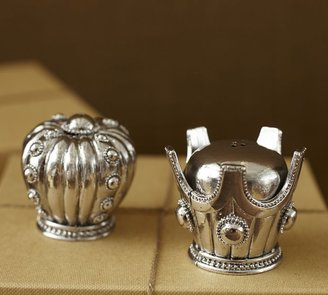 Pottery Barn Crowns Salt & Pepper Shakers