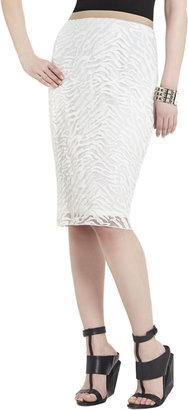 BCBGMAXAZRIA Irisa Embroidered Pencil Skirt