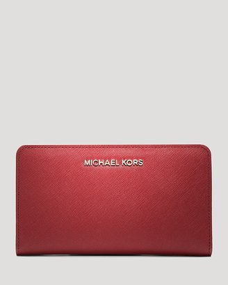 MICHAEL Michael Kors Wallet - Saffiano Interior Stripe Large