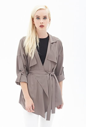 Forever 21 Slouchy Belted Trench Coat