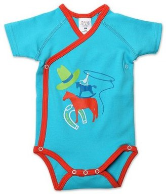 Zutano Baby-boys Infant Lasso Screen Short Sleeve Body Wrap