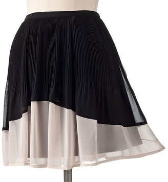 Lauren Conrad pleated chiffon skirt