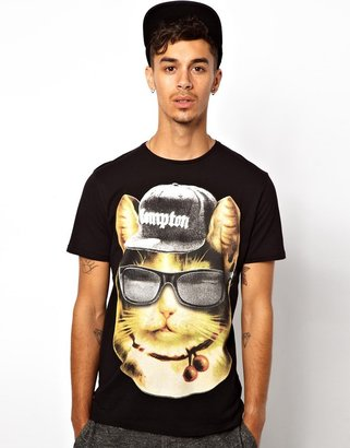 Cuckoos Nest T-Shirt With Gang Cat Print