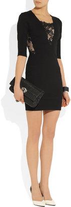 Mason by Michelle Mason Lace-paneled ponte mini dress