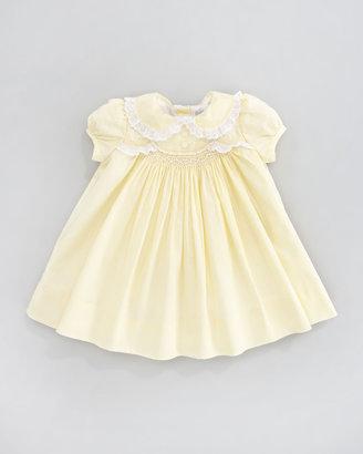 Ralph Lauren Scalloped Smocked Poplin Dress