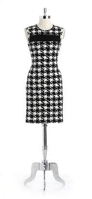 Calvin Klein Houndstooth Sheath Dress