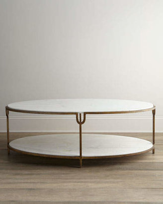 Global Views Olivia Marble-Top Coffee Table