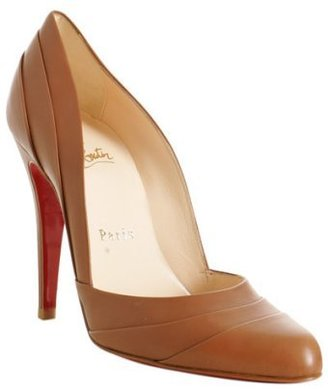 Christian Louboutin brown leather 'Insectika' pumps