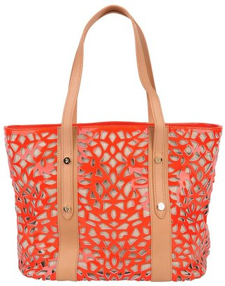 Sondra Roberts Perforated Leather Tote