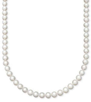 "Belle de Mer Pearl Aa+ 16"" Cultured Freshwater Pearl Strand (8-1/2-9-1/2mm) Necklace in 14k Gold"