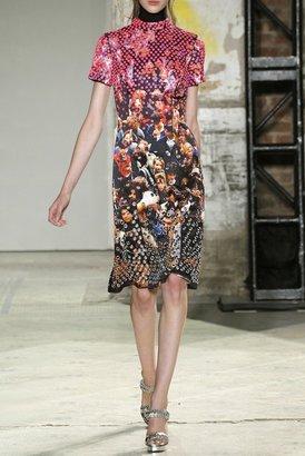 Proenza Schouler Embroidered Doubleface Satin Dress