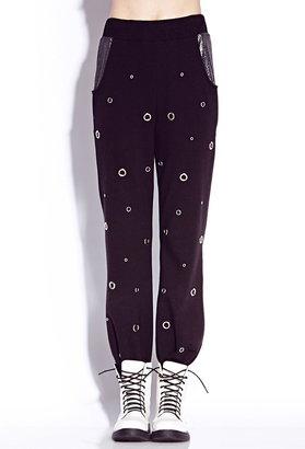 Forever 21 Glam Grommet Sweatpants
