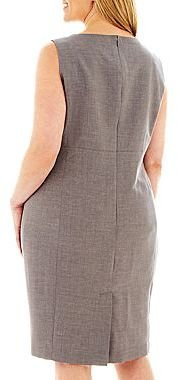 JCPenney 9 & Co.® Sleeveless Seamed Dress - Plus
