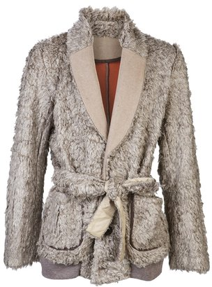 Sacai Long sleeve textured coat