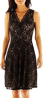 Liliana Simply Seamed Lace Dress