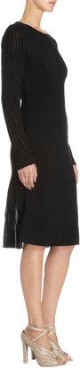 Bottega Veneta Ribbed Long Sleeve Dress
