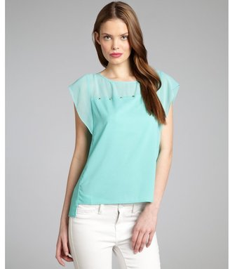 Romeo & Juliet Couture mint sleeveless studded crepe top