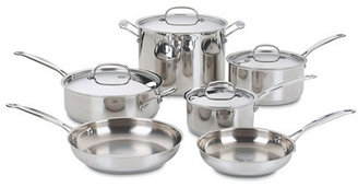 10-Pc Classic Stainless Cookware Set