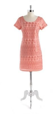 Oleg Cassini Embellished Shift Dress