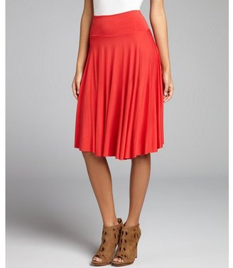 Rachel Pally tomato stretch jersey knit full skirt