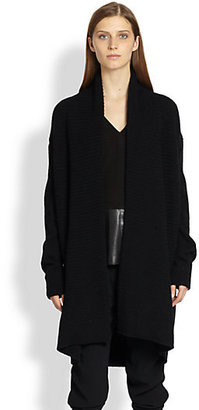 Vince Ribbed Yak & Wool Cardigan