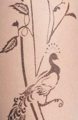 Hue Ornate Backseam Print Tights